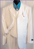 SKU# XFO465 TS-03V WHITE EXTRA FINE Light Weight Soft Fabirc 3PC VESTED SUIT $199