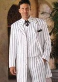 SKU# CRO671 White & Any Color Pinstripe # Piece Suits Dress Fashion For Men $139