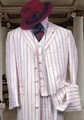 & Red Pinstripe Fashion