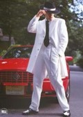 SKU# VDB614 White Tuxedo Men's Zoot Suit $149
