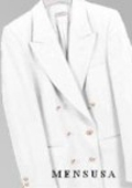 SKU# PFF101 Z762TA Winter White, Six Button Double Breasted Performance Blazer Jacket Coat $99