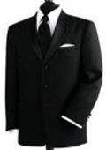 SKU# SP-230 100% Wool 3 Button Tuxedo Suit $139