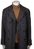 Men's Brown Pea Coat