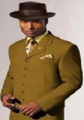 SKU# ZTV-139 Men's Olive Green Fashion Vested Zoot Suit $139