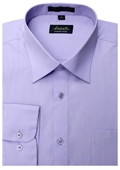 Mens Lavender Wrinkle-free Dress