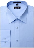 SKU#BB5698 Amanti Men's Wrinkle-free Baby Blue Dress Shirt $25