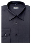 SKU#BK7745 Amanti Men's Wrinkle-free Black Dress Shirt $25