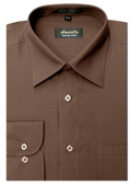 Wrinkle-free Brown Dress Shirt