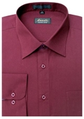 SKU#BU6595 Amanti Men's Wrinkle -free Burgundy Dress Shirt $25