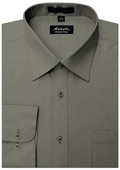 SKU#CH9985 Amanti Men's Wrinkle-free Charcoal Dress Shirt $25