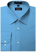 SKU#BL1888 Amanti Men's Wrinkle-free French Blue Dress Shirt $25