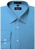 SKU#BL1888 Amanti Men's Wrinkle-free French Blue Dress Shirt $25