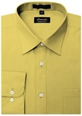 SKU#MT6668 Amanti Men's Wrinkle-free Mustard Dress Shirt $25