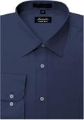 SKU#GF6985 Amanti Men's Wrinkle-free Navy Dress Shirt $25