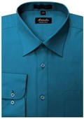 SKU#DS7445 Amanti Men's Wrinkle-free Ocean Blue Dress Shirt $25