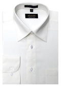 SKU#OW4499 Amanti Men's Wrinkle-free Off-white Dress Shirt $25