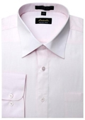 SKU#PN7700 Amanti Men's Wrinkle-free Pink Dress Shirt $25