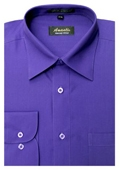 SKU#PR6859 Amanti Men's Wrinkle-free Purple Dress Shirt $25