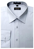 SKU#SF9632 Amanti Men's Wrinkle-free Silver Dress Shirt $25