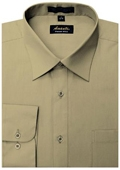 SKU#TN5665 Amanti Men's Wrinkle-free Tan Dress Shirt $25
