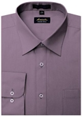SKU#VL0449 Amanti Men's Wrinkle-free Violet Dress Shirt $25