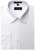 SKU#WH5586 Amanti Men's Wrinkle-free White Dress Shirt $25