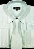 Aqua Shirt Tie and Hankie Set $65