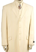Mens Ivory Lime Pinstripe