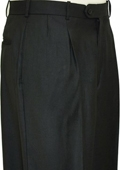 SKU#WQ9221 Black Shark Skin Wide Leg Slacks $59