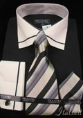 Black Shirt Tie and Hankie $65