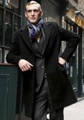 Black Wool Cashmere Overcoat