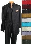 SKU# HIN36V 5 button 36' length jacket Ton on Ton Stripe $139