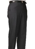SKU#MZ9500 Charcoal Bond Flat Front Trouser $99