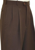 SKU#EF9011 Chocolate Brown Wide Leg Slacks $59