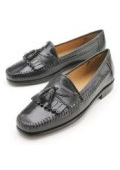 Elegant Leather Slip-On Black