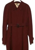 Mens Overcoat Burgundy ~