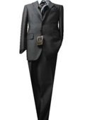 SKU#GU4452 Fitted Tailored Slim Cut 2 Button Light Brown Bird's Eyes Men's Suit $189