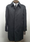 "SKU#Sloan3121 35"" four button  fly front coat with set-in sleeves slash pocket Wool&Cashmere $199"