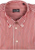 Gitman Sport Reverse Ground Stripes Red On Sale: $135