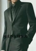 SKU# GB11 $775 High Quality Umo 1-Button Super 140's Wool Tuxedo Suit +Black Shirt+Black Tie $195