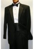 SKU# NHM216 $775 High Quality Umo 2-Button Super 120's Wool Tuxedo + Shirt + Bow Tie + Cummerbund and Bowtie Set