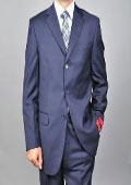 Navy 3-button Wool Suit