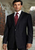 2 BUTTON SOLID COLOR BLACK MENS SUIT BACK JACKET STYLE WITH 1 PLEATED PANTS Classic Athletic Cut Fit $189