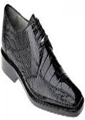 Ferrini Black Cherry All-Over Genuine Alligator Shoes