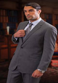 CLASSIC SLIM FIT 2 PIECE 2 BUTTON GRAY MENS SUIT Pick Stitched 100% Super 150's Wool $159