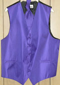 PURPLE ( Comes in different colors ) VEST & TIE SET $49