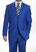 Mens Two Button Suit Royal Blue $139