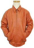 Los Altos Cognac All Over Genuine Ostrich Jacket $1975