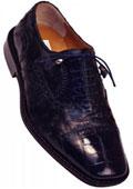 Ferrini 203/528 Navy Genuine Alligator / Ostrich Shoes $519