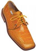 Ferrini Camel ~ Khaki Genuine Alligator Shoes $569